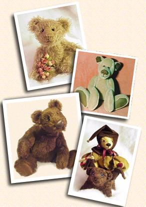 a collection of teddy bears in plush and mohair