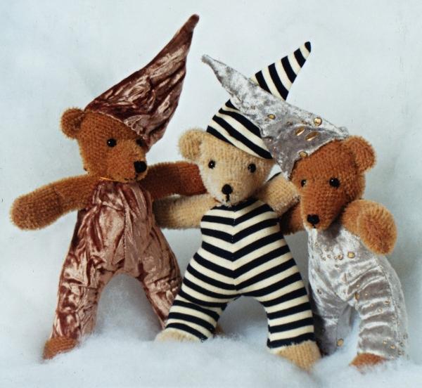 ours en peluche non articulé en mohair et tissu